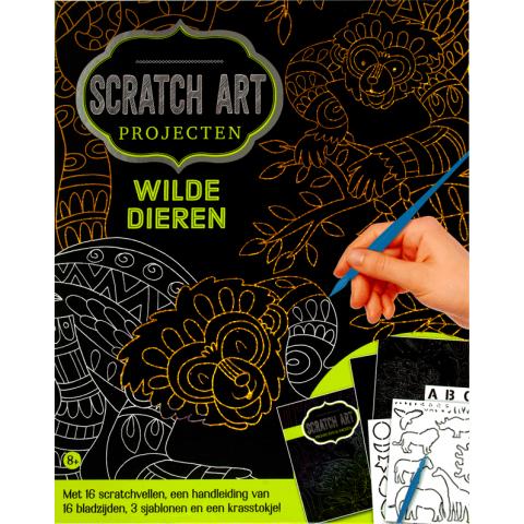 Scratch art projecten Wilde Dieren