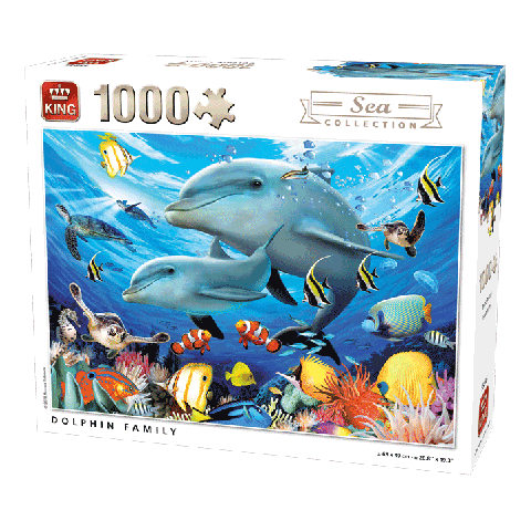 Puzzle Dolphin Family (Sea Collection) 1000 pcs