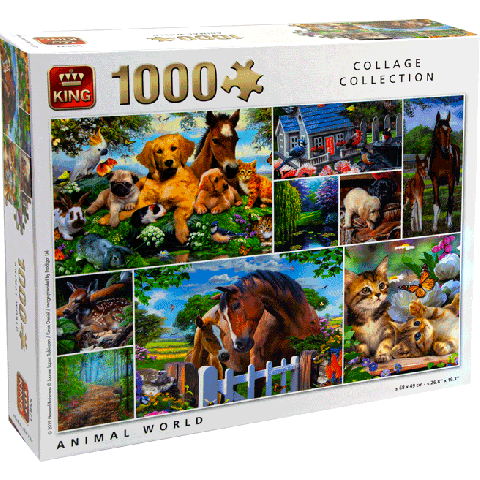 Puzzle animal world (collage collection) 1000pcs