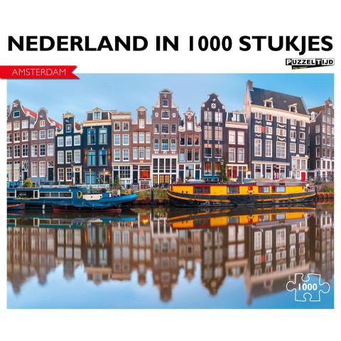 Puzzel Amsterdam bootjes (1000 stukjes)