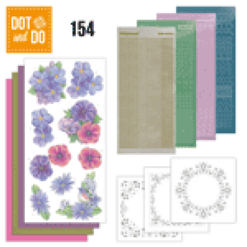Dot & Do 154 Pink Flowers