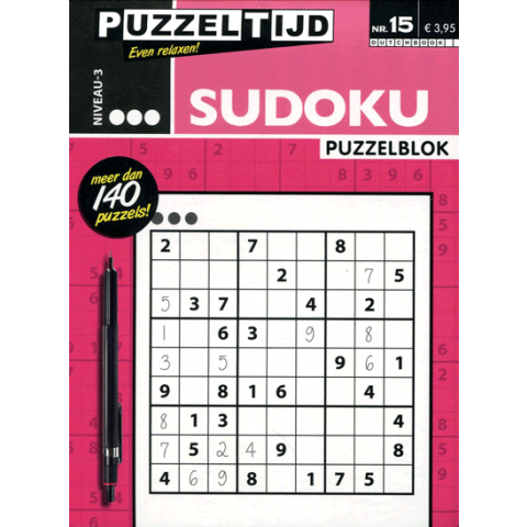 Puzzelblok sudoku 3 punt nr. 15 puzzeltijd