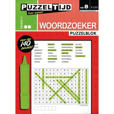 Puzzelblok woordzoeker 2 punt nr. 08 puzzeltijd