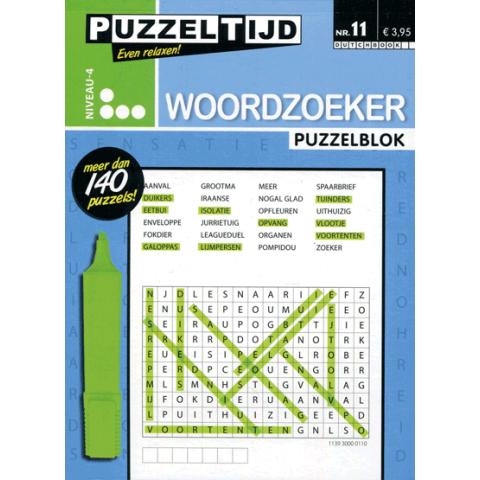 Puzzelblok woordzoeker 4 punt nr. 11 puzzeltijd
