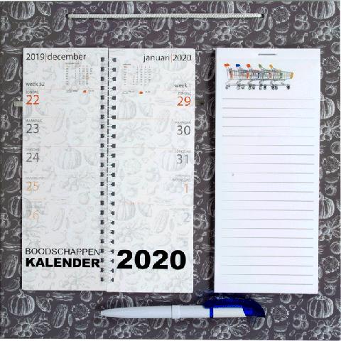 Omleg weekkalender 2020 Boodschappen