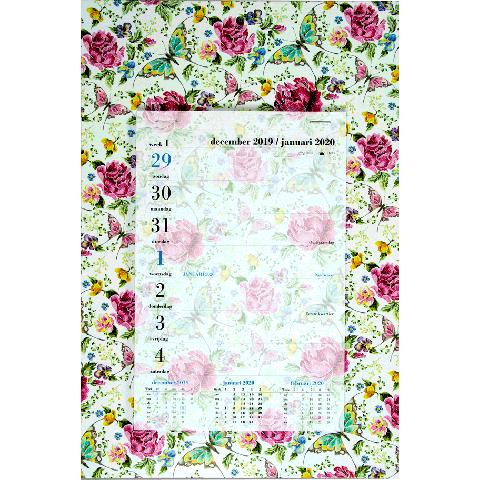 Weekblok kalender 2020 Bloemen (getekend)