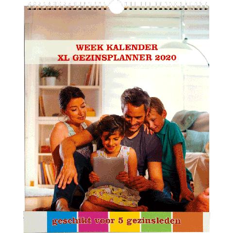 Weekkalender 2020 gezinsplanner 5 personen