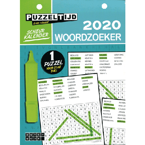 Scheurkalender 2020: Woordzoekers
