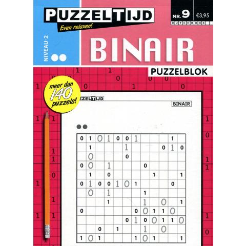 Puzzelblok binair 2 punt nr. 009 puzzeltijd