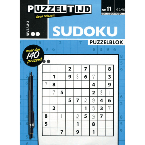 Puzzelblok sudoku 2 punt nr. 11 puzzeltijd