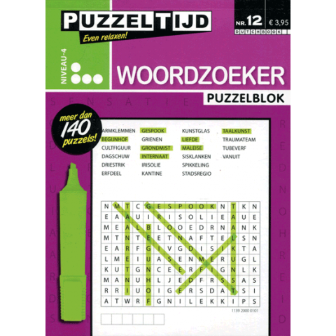 Puzzelblok woordzoeker 4 punt nr 012 puzzeltijd