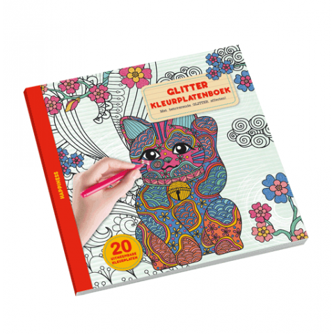 Glitter Kleurplatenboek happiness