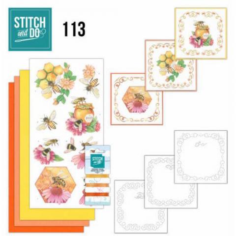 Stitch & Do nr. 113 Honing bijen