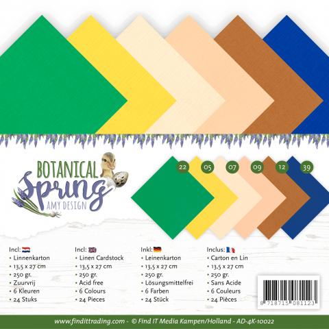 Linnen karton pakket botanical spring Amy Design
