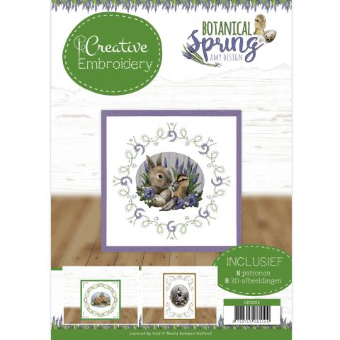 Borduurboek 12 botanical spring Amy Design