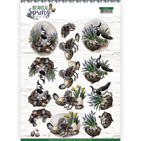Set van 2 verschillende 3D knipvellen botanical spring amy design