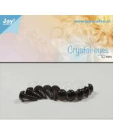 Kristal ogen bruin 10 mm