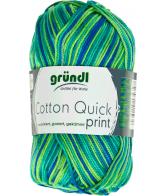 Cotton quick print groen multicolor 50 gram